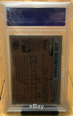 1981 Topps Joe Montana Rookie PSA 9 SHARP