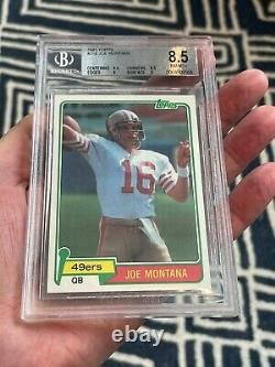1981 Topps Joe Montana Rookie RC #216 BGS 8.5 with9.5 centering (Top Sports Cards)