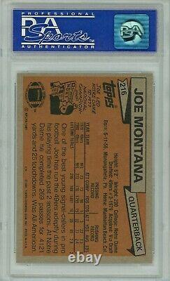 1981 Topps PSA 10 Joe Montana Rookie #216 HOF Joe Cool
