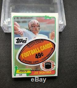 1981 Topps Unopened Cello Pack, Joe Montana Rookie on top, Checklist on back