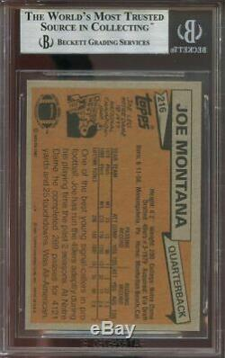 1981 topps #216 JOE MONTANA san francisco 49ers rookie card BGS 9 (8.5 9 9 9)