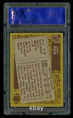 1986 86 Topps Jerry Rice Rookie PSA 9 Mint RC #161 San Francisco 49ers HOF