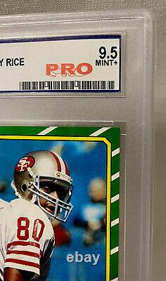 1986 Jerry Rice Topps Rookie Card #161 -PRO Graded 9.5 Mint+ RC 49ers PSA 10