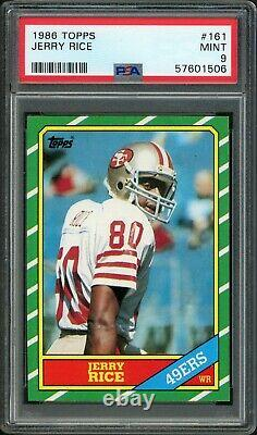 1986 Topps #161 Jerry Rice PSA 9 Beautiful Copy Rookie RC