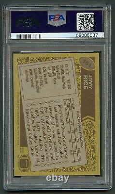 1986 Topps #161 Jerry Rice Rookie Psa 10 Gem Mint