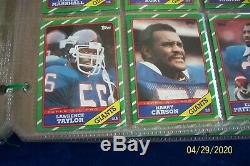 1986 Topps Complete 396 Football Set In Plastic Pages With Graded Jerry Rice Rc