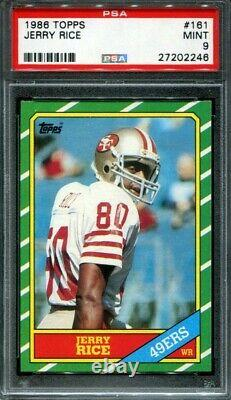 1986 Topps Football Jerry Rice #161 RC Rookie PSA 9