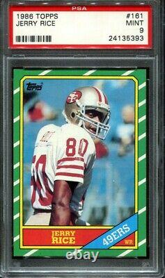 1986 Topps Football Jerry Rice #161 RC Rookie very nice PSA 9