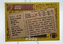 1986 Topps Football Jerry Rice Rookie Card #161