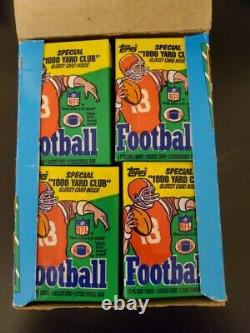1986 Topps Football Unopened Wax Pack Box Beautiful Non X-OUT