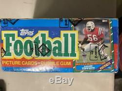 1986 Topps Football Wax Box Jerry Rice RC PSA 10 BBCE FASC From Sealed Case
