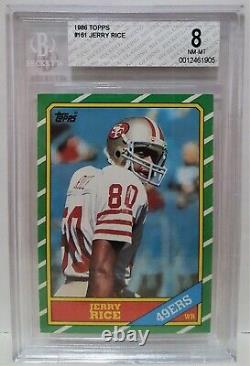 1986 Topps Jerry Rice RC #161 BGS 8 NM-MT SF 49ers GOAT Rookie