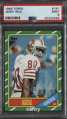 1986 Topps Jerry Rice Rc #161 Psa 9 Mint Pwcc-e Top 15% Rare Find Invest