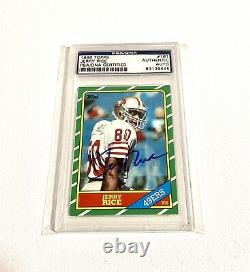 1986 Topps Jerry Rice True Rookie Autograph card PSA Authentic Signed 49ers Auto