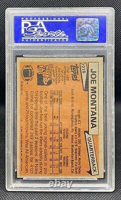 1986 Topps Joe Montana #216 Rookie RC PSA 9 GREAT card Old PSA