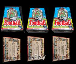 1989 Topps Football Unopened Wax Box BBCE wrapped from case Lot of 3
