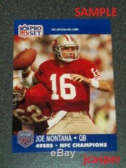 1990 Pro Set SAN FRANCISCO 49ers NFC Super Bowl XXV Error JOE MONTANA Jerry Rice