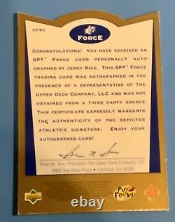 1996 Upper Deck SPX Force Jerry Rice Auto #SPX5 Rare