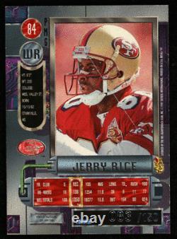 1997 Metal Universe Precious Metal Gems PMG Jerry Rice #84 Red /150
