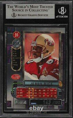 1997 Metal Universe Precious Metal Gems PMG Red /150 Jerry Rice #84 BGS 9 GOAT
