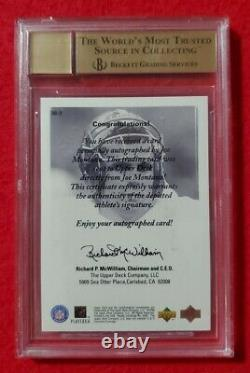 1998 U. D. Encore Joe Montana Auto BGS 9.5 / 10! Beautiful Card