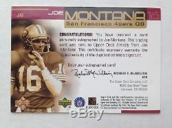 1999 Upper Deck JOE MONTANA Auto /300 Super Signatures On Card 49ERS