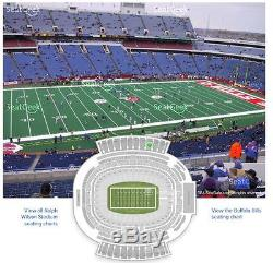 2 Tickets Buffalo Bills vs San Francisco 49ers Tickets 10/16/16 100pm