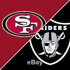 2 Tickets San Francisco 49ers vs Oakland Raiders 11/1/18 Sec 107 Lower Level