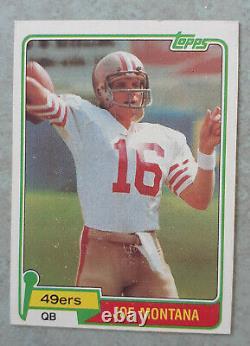 2 card lot 1981 Original topps #216 Joe Montana and 1986 Jerry Rice RC