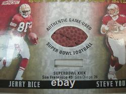2000 Playoff Momentum Super Bowl Souvenirs 49ers Steve Young Jerry Rice 17/50
