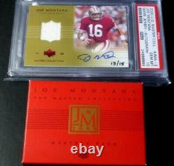 2000 Ud Master Collection Joe Montana Auto Signed Jersey #d 13/15 Psa 10 49ers