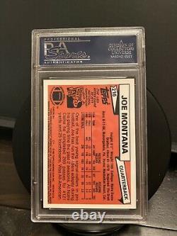 2001 Joe Montana Topps Archives Reserve Rookie Autograph Psa Auto