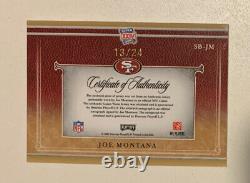 2007 National Treasures Super Bowl XXIV Joe Montana Patch Auto Game Worn /24