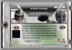 2007 Topps Co-Signers JOE MONTANA STEVE YOUNG Dual Auto Autograph Card 49ers SP