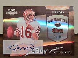 2010 Playoff Legendary Contenders Joe Montana Auto /20 49ers Autograph