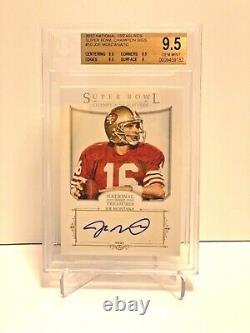 2012 National Treasures Joe Montana Super Bowl Signatures Auto 49ers Bgs 9.5 10