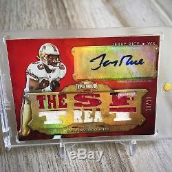 2012 Topps Triple Threads Jerry Rice Auto Jersey /18 Superbowl Legend Auto
