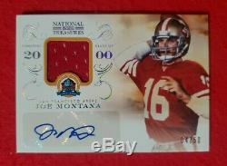 2013 National Treasures Joe Montana Patch & Auto 4/50! Beautiful Mint Card