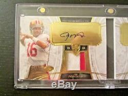 2013 Topps Supreme JOE MONTANA/STEVE YOUNG AUTO/DUAL PATCH BOOKLET /15 49ers SSP
