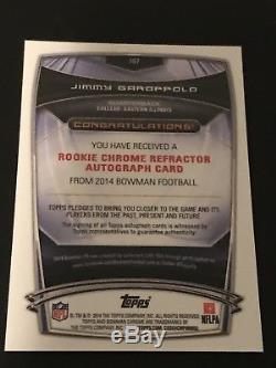 2014 Bowman Chrome JIMMY GAROPPOLO Refractor Rookie RC Auto 49ers