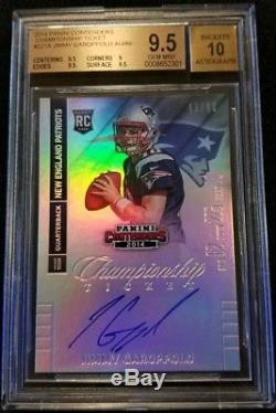 2014 Contenders Championship Ticket BGS 9.5 10 Auto #'d 43/49 Jimmy Garoppolo