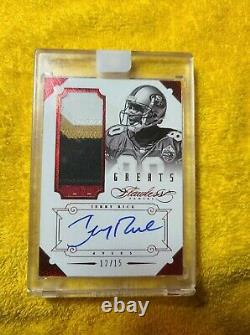 2014 Flawless Jerry Rice 49'ers Autograph/4 Color Patch 12/15