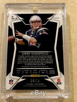 2014 Jimmy Garoppolo Panini Select Auto RC #/75 Autograph Rookie
