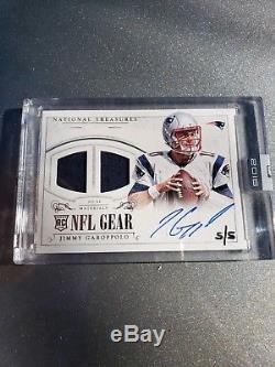 2014 Jimmy Garoppolo Rookie Auto National Treasures NFL GEAR Honors sealed 5/5