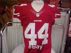 2014 NFL San Francisco 49ers Game Worn/Team Issued Red Jersey Player #44 Size 42