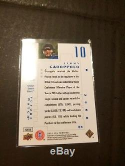 2014 SP Authentic Jimmy Garoppolo Rookie Future Watch # 070/999! 49ers