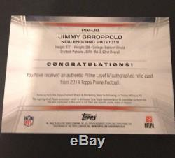 2014 Topps Prime Jimmy Garoppolo RC Auto 4/5 Logo 49ers WOW! MINT