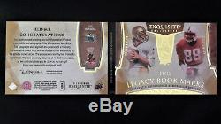 2014 UD Exquisite Collection Joe Montana/Jerry Rice Dual Auto Jersey Card #7/10