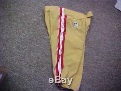 2015-16 NFL San Francisco 49ers Game Worn/Team Issued Nike Football Pants Sz 32