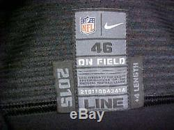 2015 NFL San Francisco 49ers Game Worn/Team Issued Color Rush Jersey #56 Size-46